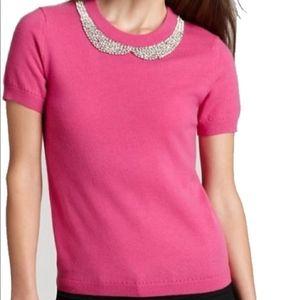 Kate Spade Jeweled Peter Pan Collar sweater